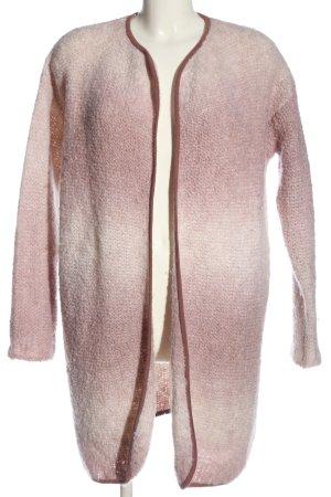 Tommy Hilfiger Szydełkowany sweter różowy-kremowy Gradient W stylu casual