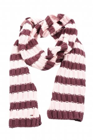 Tommy Hilfiger Häkelschal lila-pink Streifenmuster Casual-Look