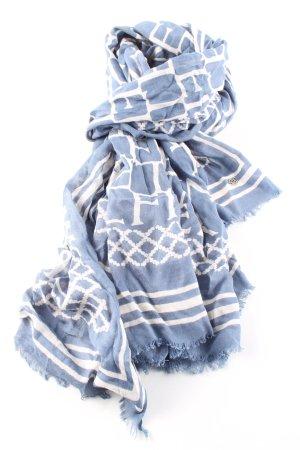 Tommy Hilfiger Halstuch blau-weiß grafisches Muster Casual-Look