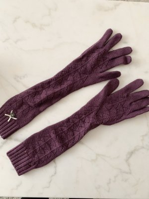 Tommy Hilfiger Knitted Gloves blackberry-red-purple