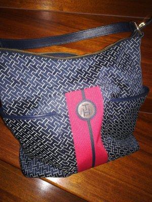 Tommy Hilfiger Handtasche, blau-pink