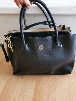 Tommy Hilfiger Handtasche schwarz gold