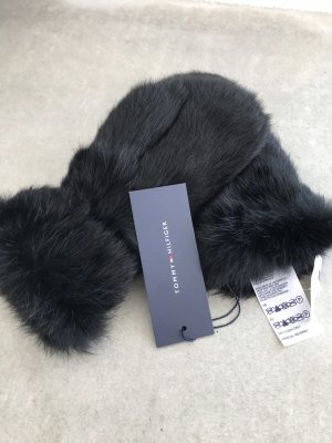 Tommy Hilfiger Fur Gloves black