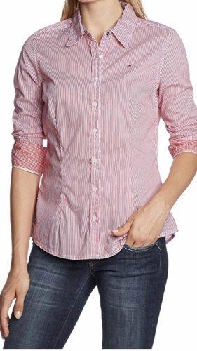 Tommy Hilfiger Denim Camisa de manga larga rojo-blanco Algodón