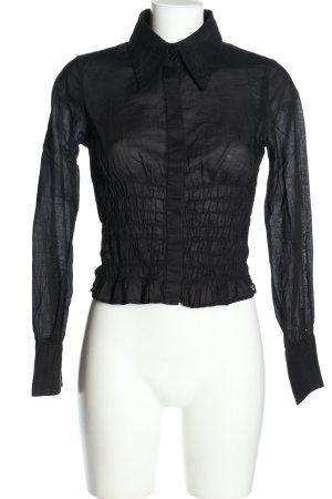 Tommy Hilfiger Hemd-Bluse schwarz Casual-Look