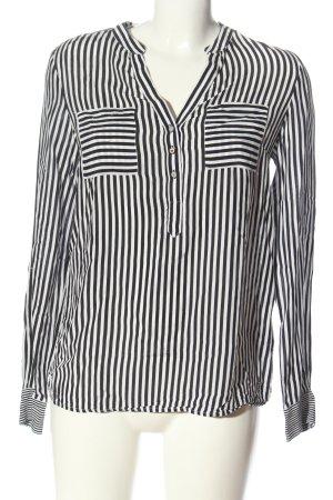 Tommy Hilfiger Hemd-Bluse weiß-schwarz Allover-Druck Casual-Look