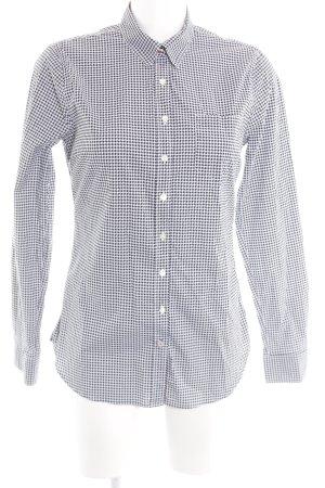 Tommy Hilfiger Hemd-Bluse schwarz-weiß Allover-Druck Business-Look
