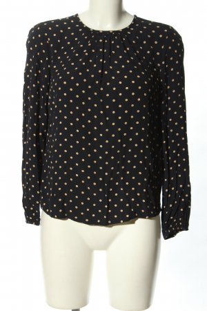 Tommy Hilfiger Hemd-Bluse schwarz-creme Punktemuster Casual-Look