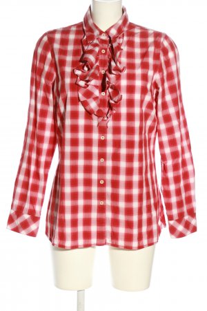 Tommy Hilfiger Hemd-Bluse rot-weiß Karomuster Casual-Look