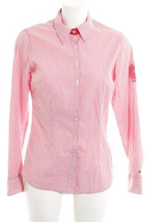 Tommy Hilfiger Hemd-Bluse weiß-rot Allover-Druck Business-Look