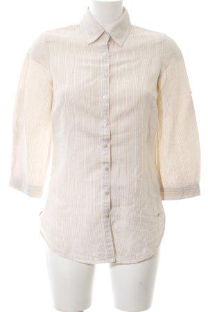 Tommy Hilfiger Hemd-Bluse creme-weiß Streifenmuster Business-Look