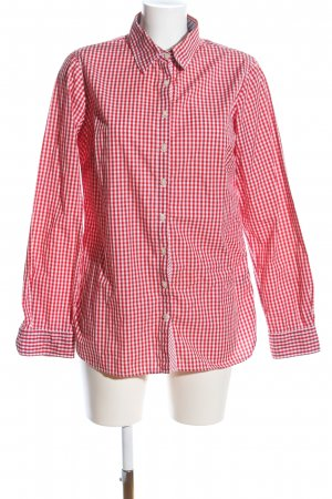 Tommy Hilfiger Hemd-Bluse rot-weiß Allover-Druck Casual-Look