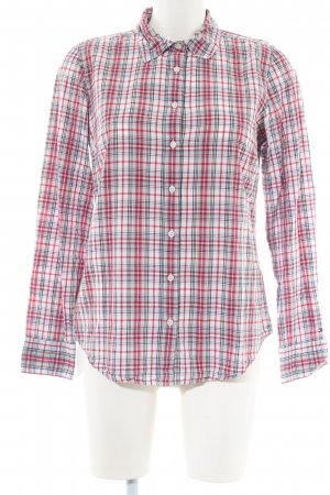 Tommy Hilfiger Hemd-Bluse wollweiß-rot Allover-Druck Casual-Look