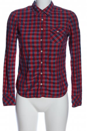 Tommy Hilfiger Hemd-Bluse blau-rot Karomuster Casual-Look
