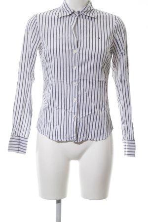 Tommy Hilfiger Hemd-Bluse weiß-schwarz Streifenmuster Casual-Look