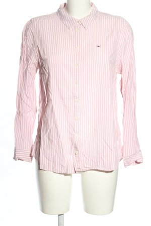 Tommy Hilfiger Hemdblouse wit-roze gestreept patroon casual uitstraling
