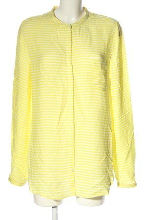 Tommy Hilfiger Hemd-Bluse blassgelb-weiß Streifenmuster Casual-Look