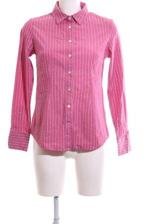Tommy Hilfiger Hemd-Bluse weiß-pink Streifenmuster Business-Look