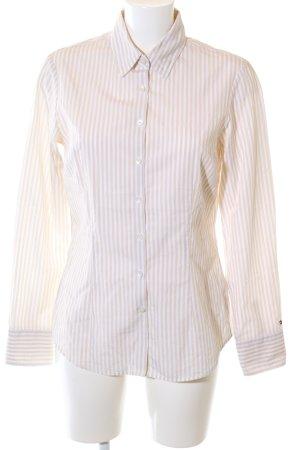 Tommy Hilfiger Hemd-Bluse weiß-creme Streifenmuster Business-Look