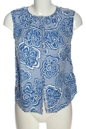 Tommy Hilfiger Hemd-Bluse blau-weiß Allover-Druck Casual-Look