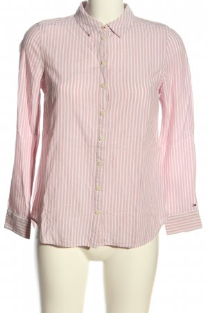 Tommy Hilfiger Hemd-Bluse weiß-pink Streifenmuster Casual-Look
