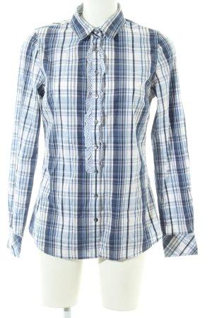 Tommy Hilfiger Hemd-Bluse blau-weiß Karomuster Casual-Look