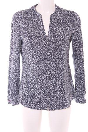 Tommy Hilfiger Hemd-Bluse dunkelblau-weiß abstraktes Muster Casual-Look