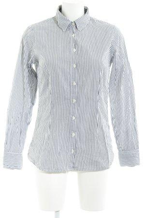 Tommy Hilfiger Hemd-Bluse dunkelgrau-weiß Streifenmuster Casual-Look