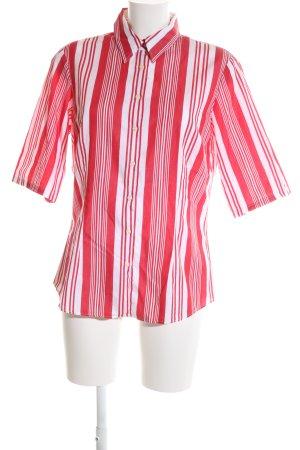 Tommy Hilfiger Hemd-Bluse rot-weiß Streifenmuster Casual-Look
