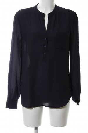 Tommy Hilfiger Hemdblouse zwart gestreept patroon zakelijke stijl