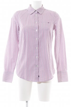 Tommy Hilfiger Hemd-Bluse pink-weiß Streifenmuster Business-Look