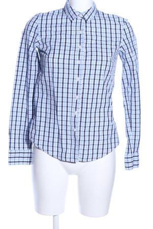 Tommy Hilfiger Camicia blusa blu-bianco motivo a quadri stile casual