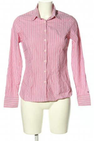 Tommy Hilfiger Hemd-Bluse pink-weiß Allover-Druck Business-Look