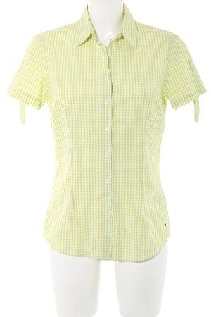Tommy Hilfiger Hemd-Bluse grün-weiß Karomuster Casual-Look