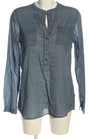 Tommy Hilfiger Hemd-Bluse blau-weiß Punktemuster Casual-Look