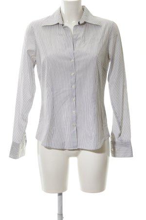 Tommy Hilfiger Hemd-Bluse weiß-dunkelblau Streifenmuster Casual-Look