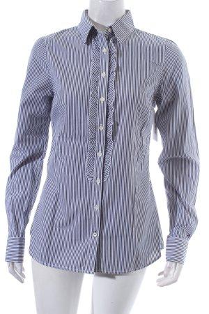Tommy Hilfiger Hemd-Bluse weiß-dunkelblau Streifenmuster
