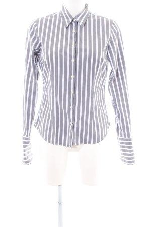 Tommy Hilfiger Hemd-Bluse weiß-hellgrau Streifenmuster Business-Look