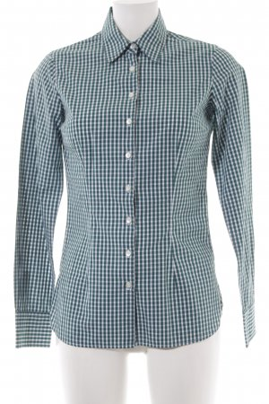 Tommy Hilfiger Hemd-Bluse weiß-petrol grafisches Muster Casual-Look