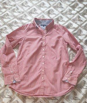 Tommy Hilfiger hemd rot gestreift bunt, gebraucht Gr XS