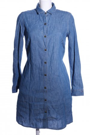 Tommy Hilfiger Hemdblusenkleid blau meliert Casual-Look