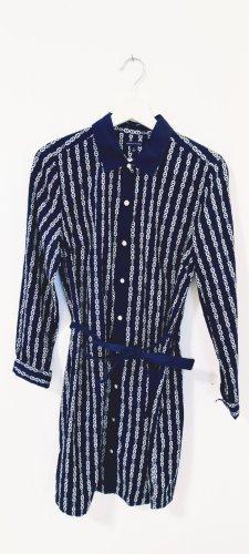 Tommy Hilfiger Vestido tipo blusón azul oscuro-blanco Algodón
