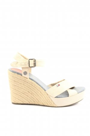 Tommy Hilfiger High Heel Sandaletten wollweiß Casual-Look