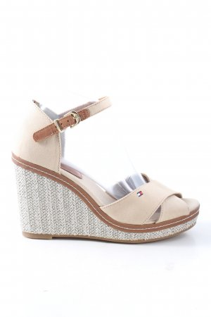 Tommy Hilfiger High Heel Sandaletten creme Casual-Look