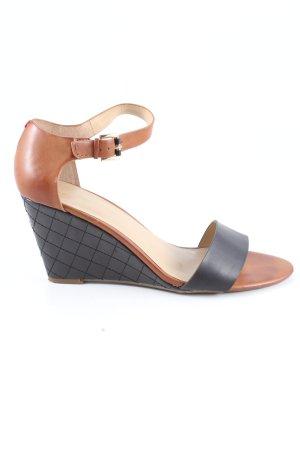 Tommy Hilfiger High Heel Sandaletten braun-schwarz Casual-Look