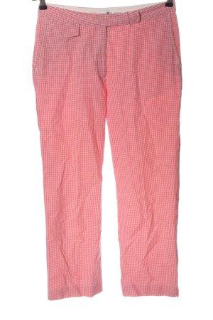 Tommy Hilfiger High-Waist Hose pink Karomuster Casual-Look