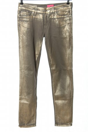 Tommy Hilfiger Slim Jeans goldfarben Glanz-Optik