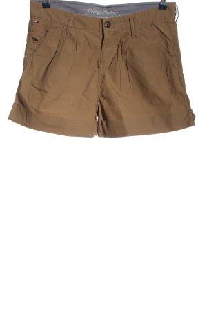 Tommy Hilfiger Pantalón corto de talle alto marrón look casual