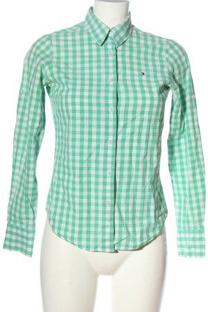 Tommy Hilfiger Holzfällerhemd grün-weiß Allover-Druck Casual-Look