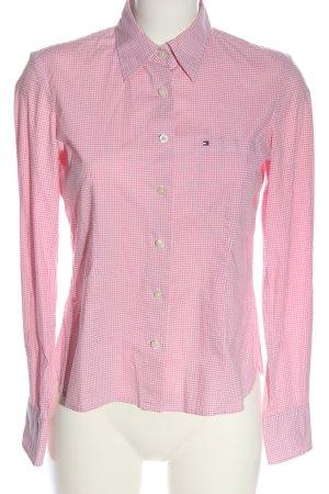 Tommy Hilfiger Holzfällerhemd pink-weiß Karomuster Casual-Look